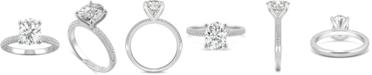 Charles & Colvard Moissanite Oval Pavé Engagement Ring (2-3/8 ct. t.w. DEW) in 14k White Gold