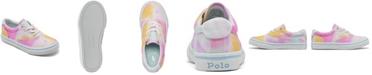 Polo Ralph Lauren Little Girls Tie-dye Thornton Casual Sneakers from Finish Line