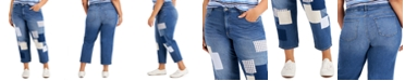 Style & Co Plus Size Patchwork Jeans, Created for Macy's