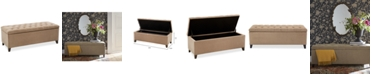 Furniture Ariana Tufted Storage Bench