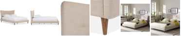 Furniture Jerell Modern Queen Linen Platform Bed
