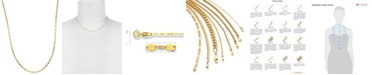 """Italian Gold 16"""" Polished Fancy Link Chain Necklace (1-1/2mm) in 14k Gold"""
