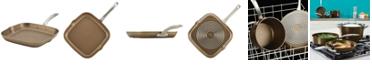 Circulon Ultimum Forged Aluminum Nonstick Square Grill Pan, 11-Inch, Nutmeg