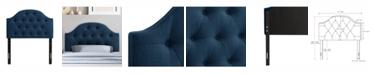CorLiving Calera Diamond Button Tufted Fabric Arched Panel Headboard, Single/Twin
