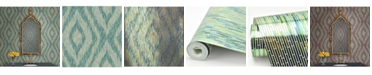 """Brewster Home Fashions Ethereal Ogee Wallpaper - 396"""" x 20.5"""" x 0.025"""""""