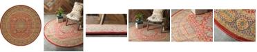 Bridgeport Home Wilder Wld2 Red 6' x 6' Round Area Rug