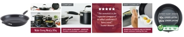 """Anolon Advanced Home Hard-Anodized Nonstick 14.5"""" Skillet with Helper Handle"""