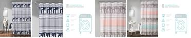 """Lush Decor Llama Stripe 72"""" x 72"""" Shower Curtain"""
