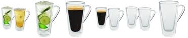 Casa Bellante Bellagio Double-Wall Glassware Mugs - Set of 2