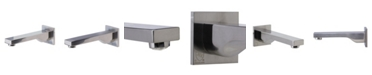 ALFI brand Brushed Nickel Wallmounted Tub Filler Bathroom Spout