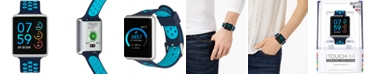 iTouch Unisex Air Navy & Turquoise Silicone Strap Touchscreen Smart Watch 41x35mm, A Special Edition