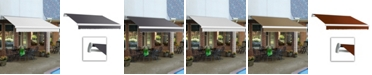 """Awntech 8' Maui Right Motor, Remote Retractable Awning, 78"""" Projection"""