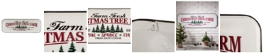 "Glitzhome 43.11"" H Farmhouse Enameled Metal Christmas Tree Wall Sign"