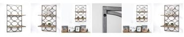 Crystal Art Gallery American Art Decor Wood and Hanging Shelf Rack