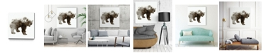"Giant Art 30"" x 30"" Bear Museum Mounted Canvas Print"