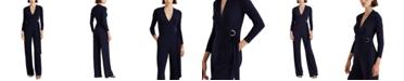 Lauren Ralph Lauren Belted Jersey Jumpsuit