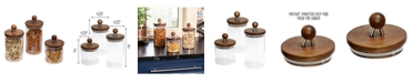 Honey Can Do 3-Pc. Acacia Top Glass Kitchen Canister Set