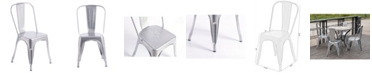 Bold Tones Industrial Metal Dining Bistro Chair