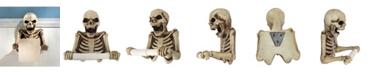 Design Toscano Bone Dry Skeleton Bathroom Toilet Paper Holder