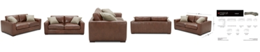"""Furniture Chelby 75"""" Leather Apartment Sofa"""