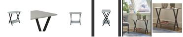 Alaterre Furniture Cornerstone Cement-Top Under-Window Bookcase