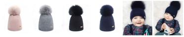Bobble Babies Baby Girl Wool Pom-Pom Hat