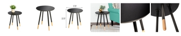 Honey Can Do Round End Table