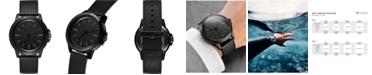 MVMT Men's Minimal Sport Black Leather Strap Watch 45mm