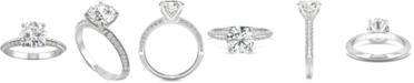 Charles & Colvard Moissanite Knife-Edge Engagement Ring (2-1/4 ct. t.w. DEW) in 14k White Gold
