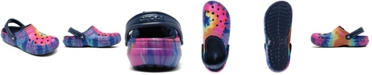 Crocs Classic Tie-Dye Lined Clogs from Finish Line