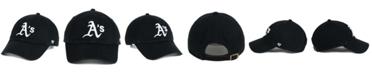 '47 Brand Oakland Athletics Black White Clean Up Cap