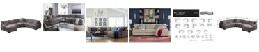 """Furniture Rhyder 4-Pc. 112"""" Fabric Sectional Sofa with Chaise, Created for Macy's"""
