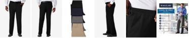 Haggar Men's Big & Tall Cool 18® PRO Classic-Fit Expandable Waist Flat Front Stretch Dress Pants