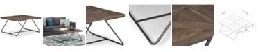 Simpli Home CLOSEOUT! Ganim Square Coffee Table