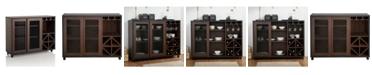 Furniture of America Alan Transitional Wine Rack Buffet