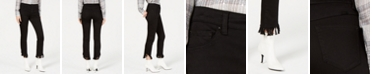 INC International Concepts INC Fringe-Hem Button-Front Straight-Leg Jeans, Created for Macy's