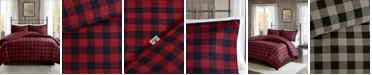 Woolrich Flannel Full/Queen 3 Piece Check Print Cotton Duvet Cover Set