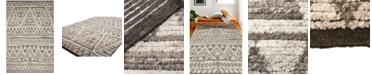 "BB Rugs Natural Wool NAT-21 Gray 2'6"" x 8' Runner Area Rug"