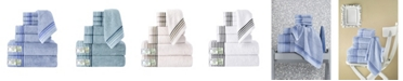 Makroteks Classic Turkish Towels Dimora 8 Piece Luxury Bamboo Series Towel Set Collection