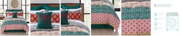 Lush Decor Bohemian Stripe 7-Pc. Full/Queen Comforter Set
