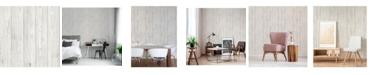 "Brewster Home Fashions Mammoth Lumber Wood Wallpaper - 396"" x 20.5"" x 0.025"""