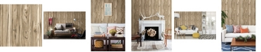 "Brewster Home Fashions Paneling Wide Plank Wallpaper - 396"" x 20.5"" x 0.025"""