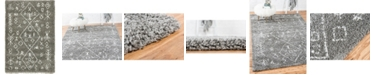 Bridgeport Home Fazil Shag Faz1 Gray 4' x 6' Area Rug