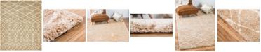 Bridgeport Home Fazil Shag Faz2 Tan 8' x 10' Area Rug