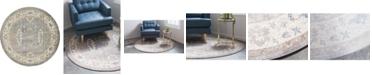 Bridgeport Home Bellmere Bel5 Gray 6' x 6' Round Area Rug