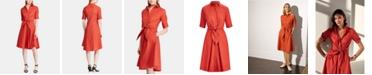 Lauren Ralph Lauren Buttoned Fit-and-Flare Dress