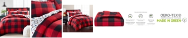 Martha Stewart Collection Buffalo Plaid Flannel Twin Duvet Cover, Created for Macy's