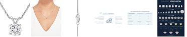 """Grown With Love Lab Grown Diamond Solitaire 18"""" Pendant Necklace (1-1/2 ct. t.w.) in 14k White Gold"""