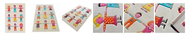 """IVI  Kids Multi-color Soft Nursery Rug with a Playful Design for Kids Bedrooms and Playrooms, Non-Toxic, Hypo-Allergnic, 72""""L x 53""""W Playmat"""