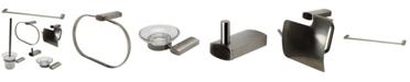 ALFI brand Brushed Nickel Matching Bathroom Accessory Set, 6 Piece